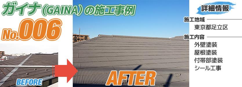 東京都足立区戸建住宅の屋根塗装にガイナを使った施工事例