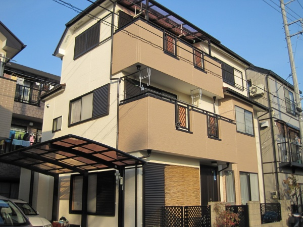 外壁塗装工事 (東京都足立区のS様邸)