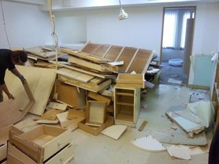 内装解体と原状回復工事(東京都中央区Eクリニック様)