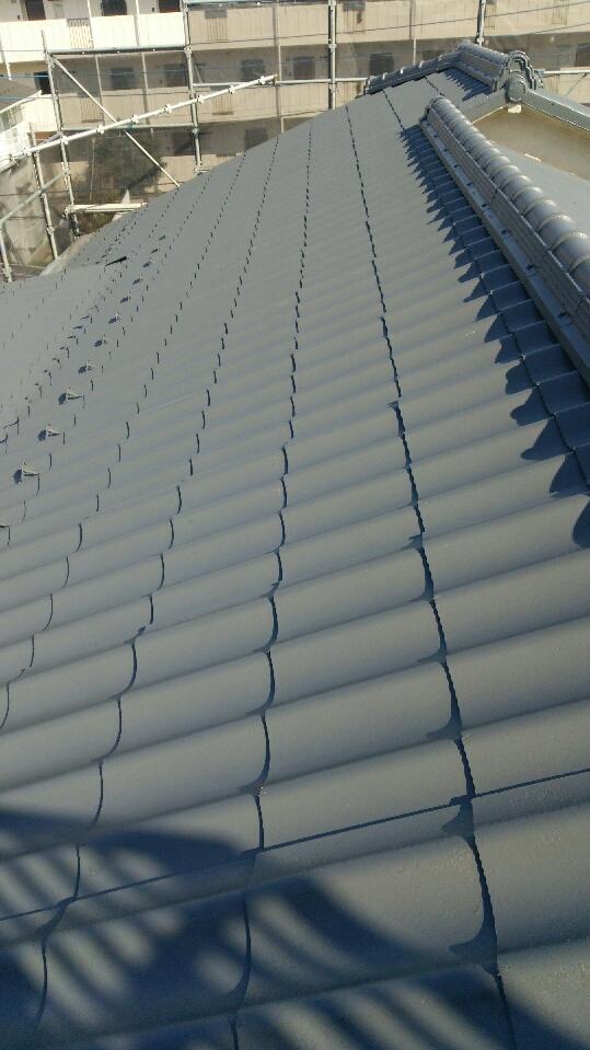 東京都杉並区の瓦屋根の塗装工事の施工事例