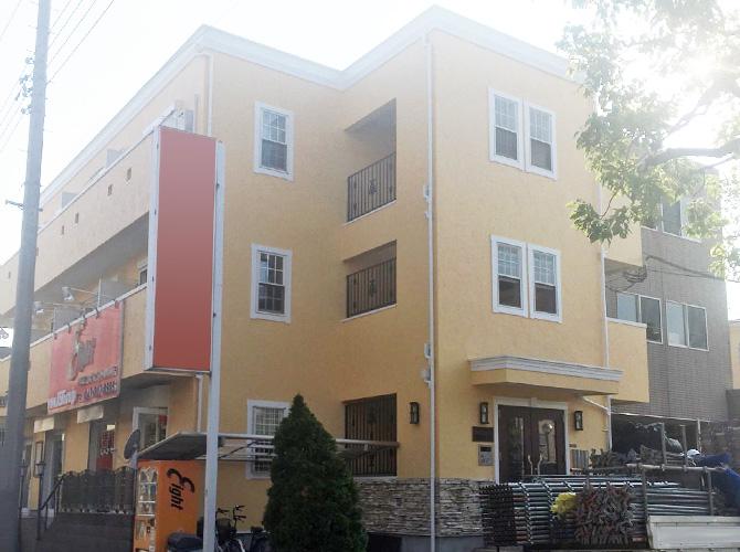 千葉県市川市マンションの外壁塗装・鉄骨階段のサビ止め塗装工事の施工事例