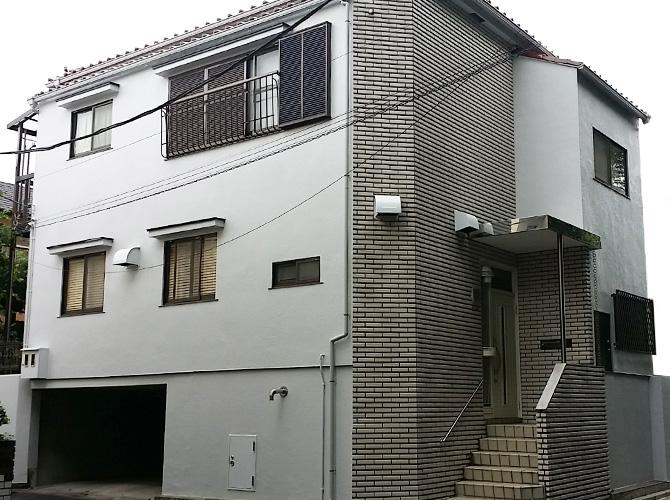 東京都世田谷区の外壁塗装工事の施工事例