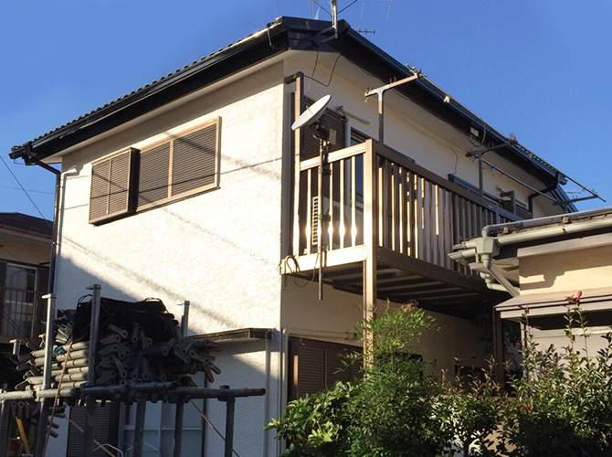 東京都町田市の外壁塗装工事の施工事例