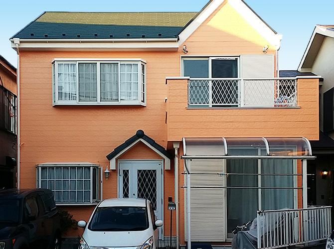 埼玉県八潮市戸建て住宅の外壁塗装工事の施工事例