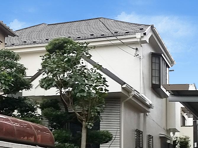 東京都足立区戸建て住宅の外壁塗装・屋根葺き替え工事の施工事例