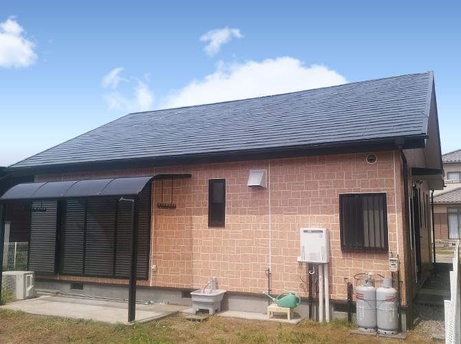 千葉県山武市平屋建て住宅の外壁塗装・屋根塗装工事の施工事例