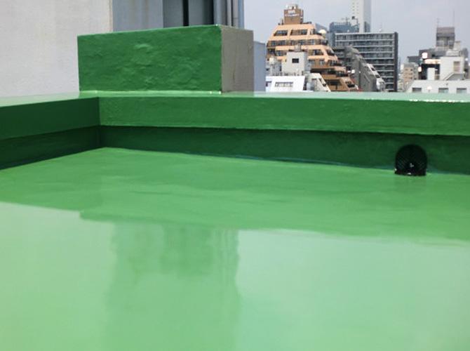 東京都台東区オフィスビルの屋上防水工事の施工事例