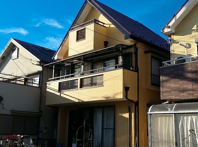 東京都東久留米市戸建住宅の外壁塗装・屋根塗装工事の施工事例