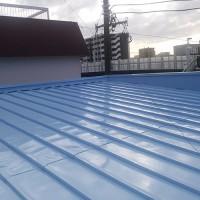 神奈川県横浜市店舗兼住宅の屋根塗装工事の施工事例
