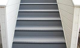 共用階段の長尺シート工事