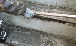 共用階段の既存材料の撤去
