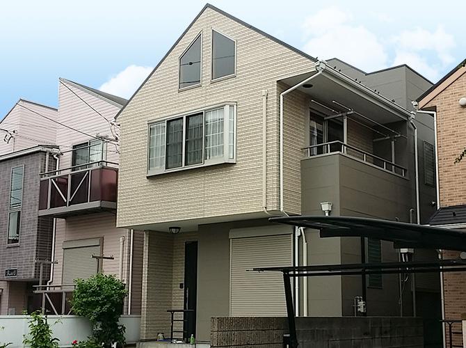 埼玉県草加市戸建住宅の外壁塗装・屋根塗装・防水工事など家全体の外装リフォーム工事の施工事例