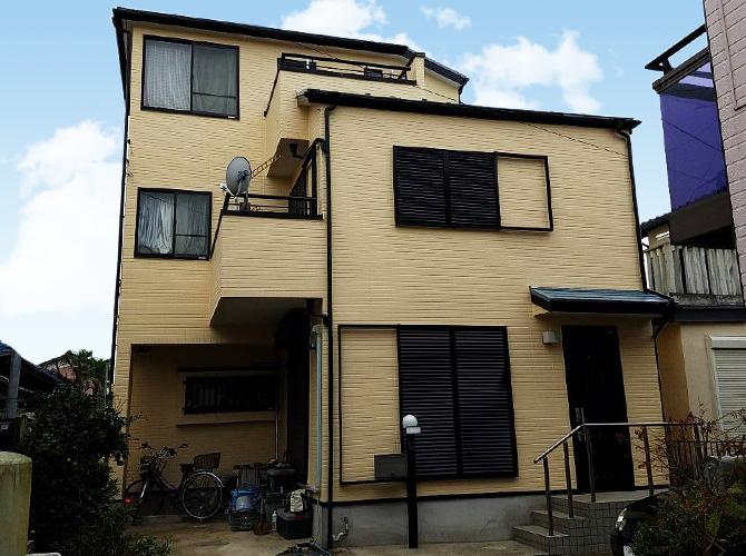 千葉県船橋市3階建住宅の外壁塗装・屋根塗装工事の施工事例