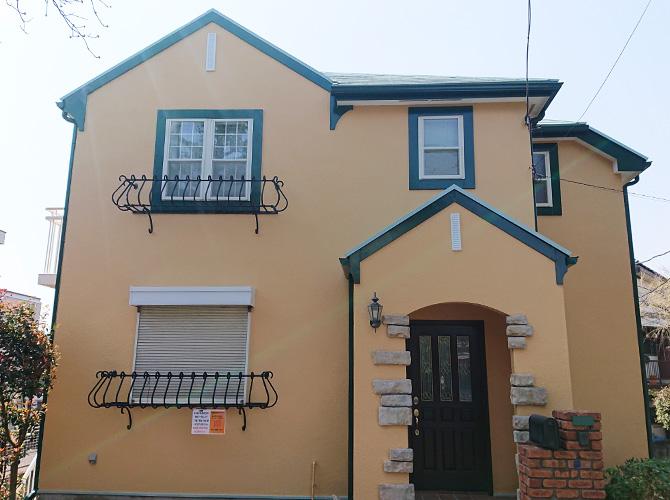 東京都北区2階建住宅の外壁塗装・屋根塗装工事の施工事例
