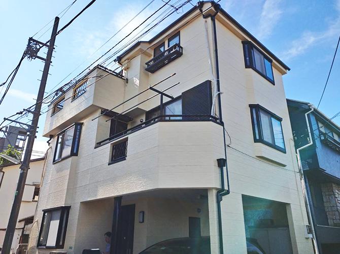 東京都練馬区3階建住宅の外壁塗装・屋根塗装工事の施工事例