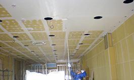 店舗の天井の塗装