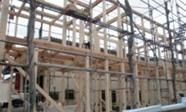 新築工事の骨組み