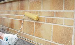 外壁のクリア塗装