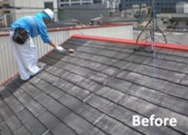 東京都品川区の屋根塗装の施工前