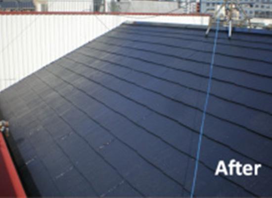 東京都品川区の屋根塗装の施工後