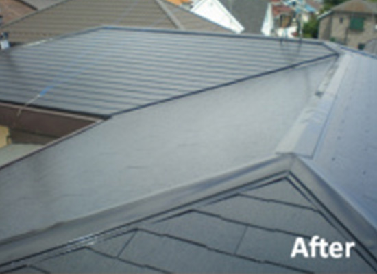 東京都調布市の屋根塗装の施工後
